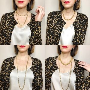 Vintage 90s Monet gold chain layering necklace
